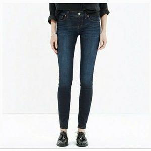 Madewell skinny skinny dark wash jeans